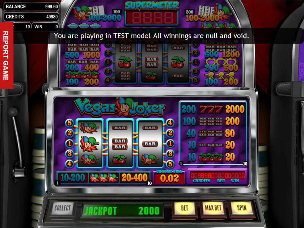 Obrázek z online casino automatu Vegas Joker