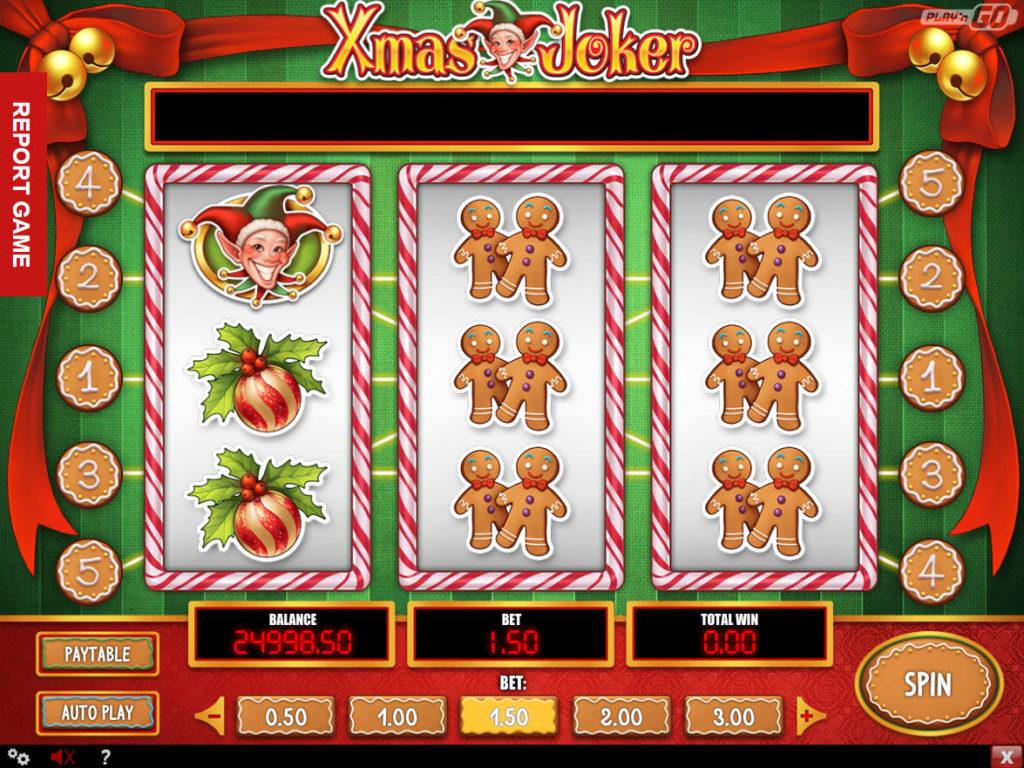 Online casino automat Xmas Joker pro zábavu