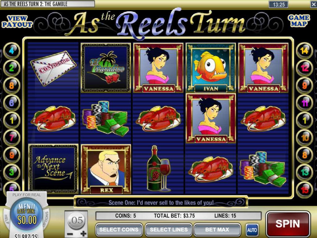 Roztočte casino automat As the Reels Turn 2 zdarma