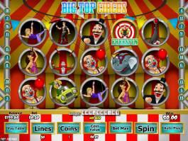 Online herní automat Big Top Circus zdarma