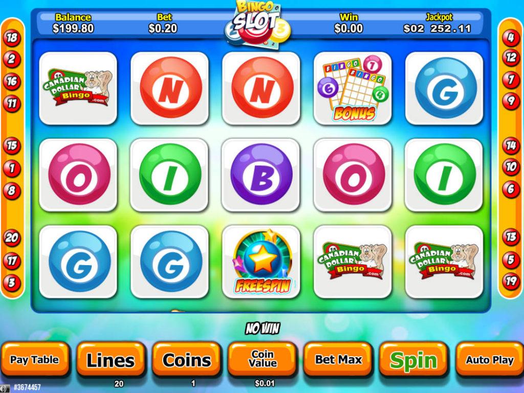 Online casino automat Bingo Slot zdarma