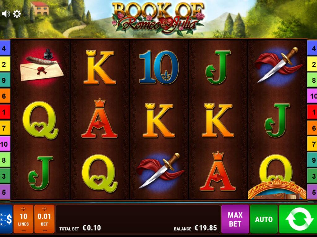 Zahrajte si casino automat Book of Romeo and Julia zdarma