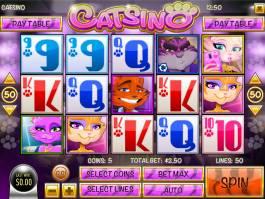 Zahrajte si casino automat Catsino zdarma, bez stahování