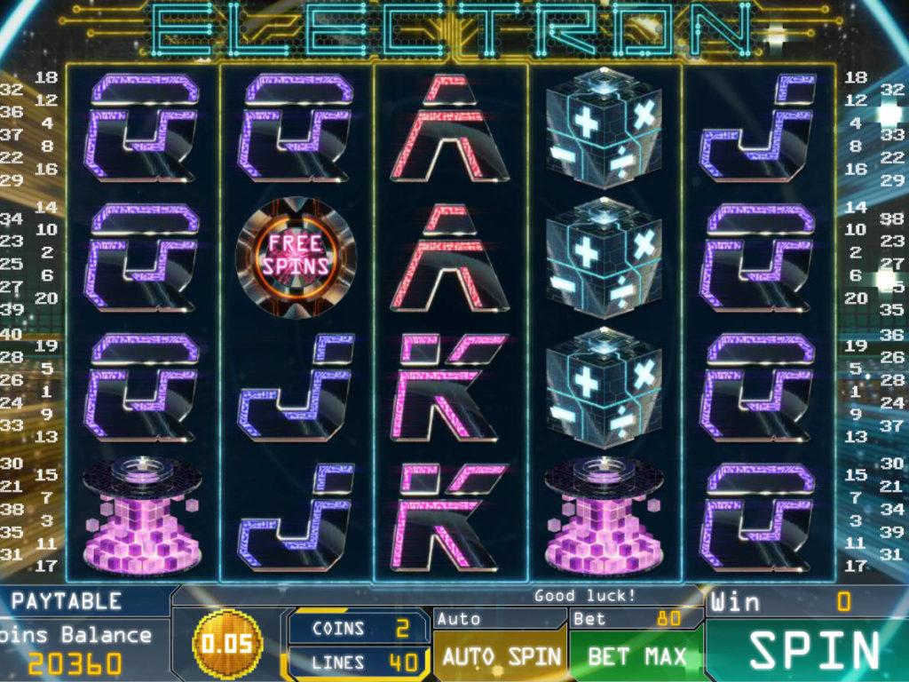 Herní automat Electron zdarma, bez vkladu