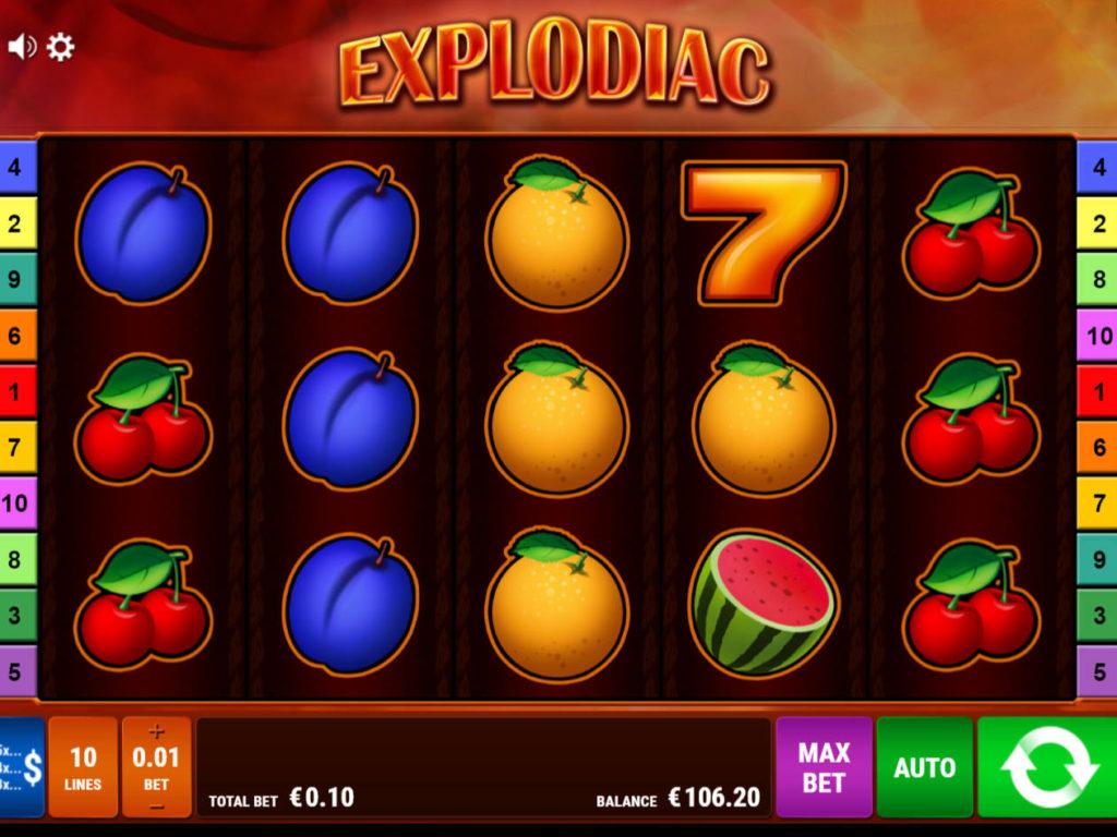 Casino automat Explodiac bez registrace