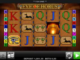 Casino automat Eye of Horus od vývojářské společnosti Merkur