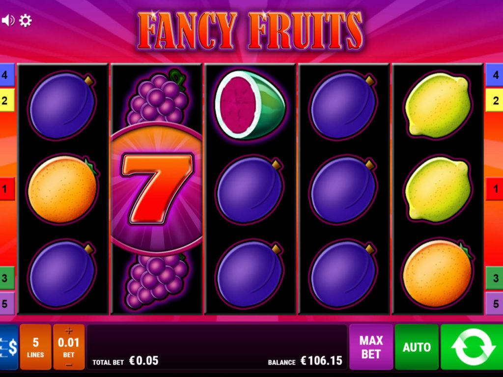 Online herní automat Fancy Fruits pro zábavu