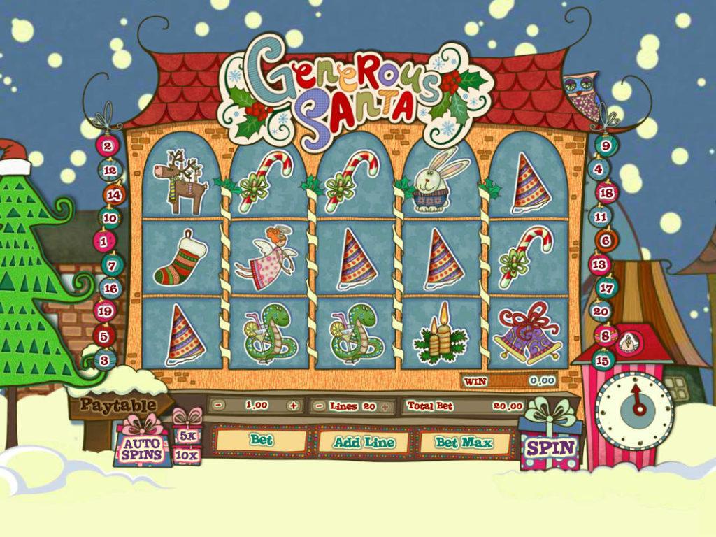 Obrázek z casino automatu Generous Santa