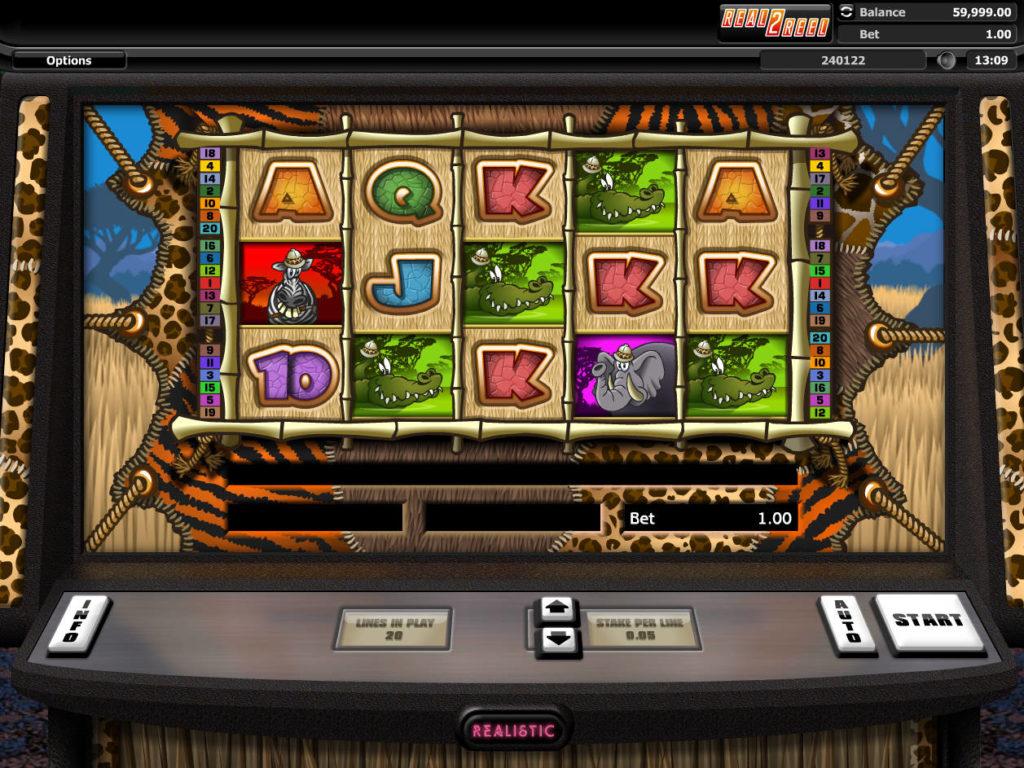 Casino automat Go Wild On Safari zdarma