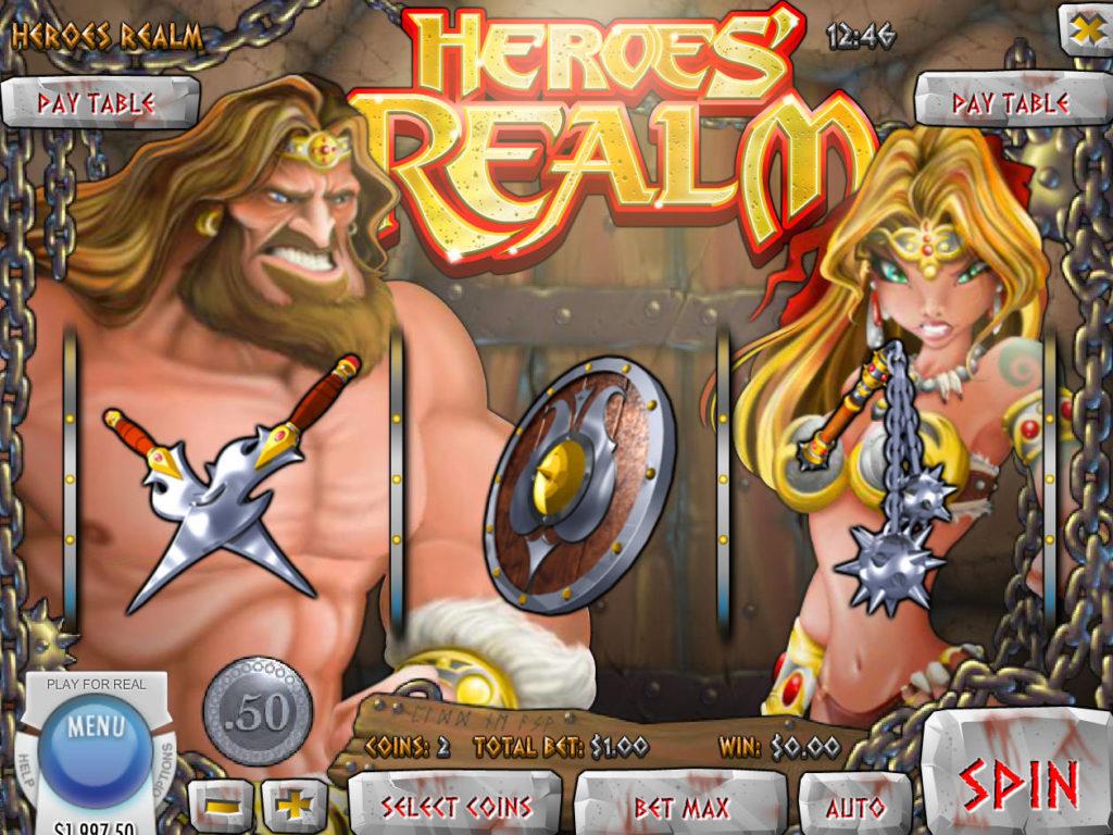 Roztočte válce casino automatu Heroes' Realm online zdarma