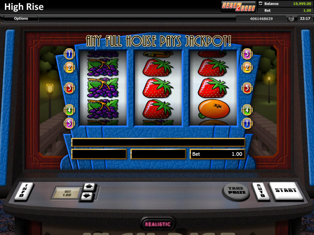 Obrázek z online casino automatu High Rise zdarma