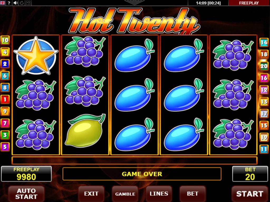 Online casino automat Hot Twenty zdarma