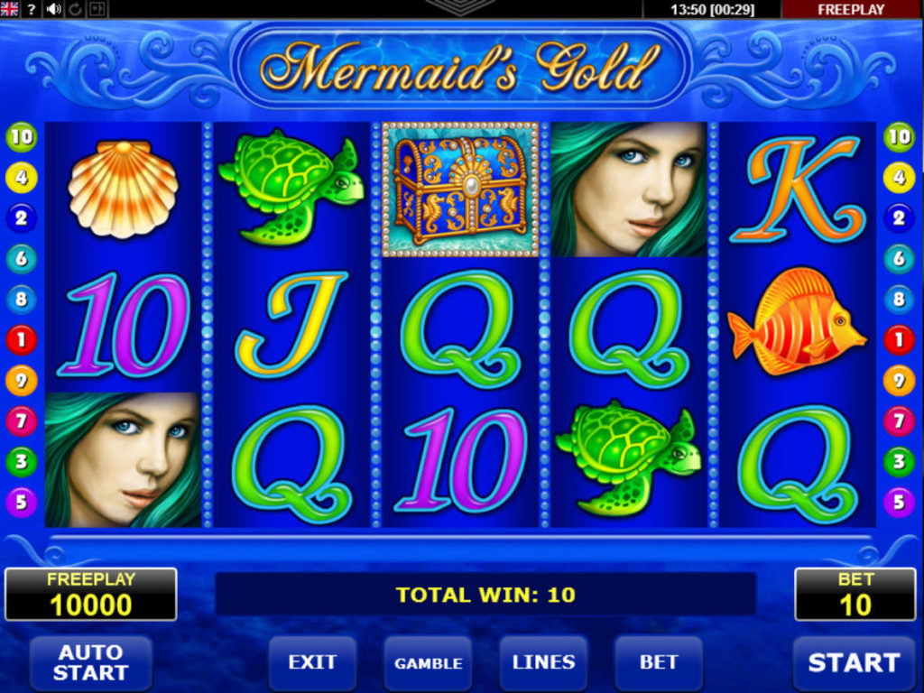 Casino automat Mermaid's Gold online