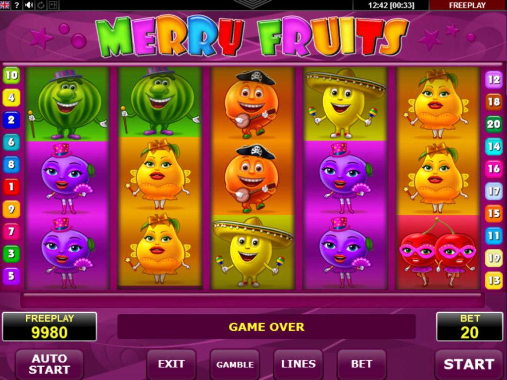 Online casino automat Merry Fruits od společnosti Amatic