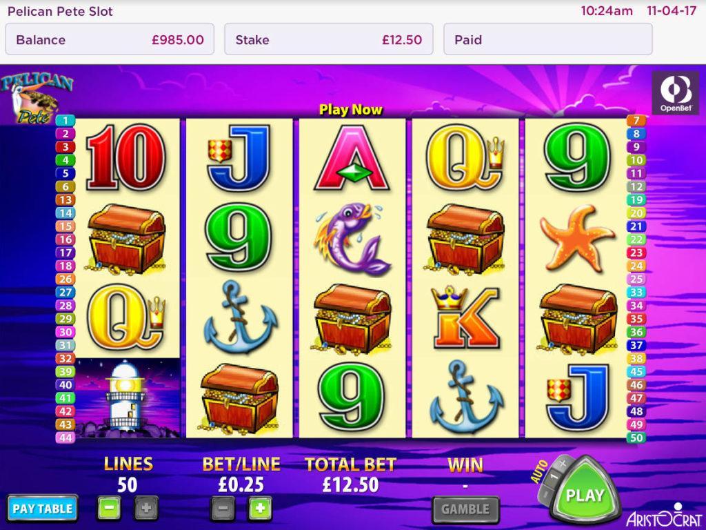 Obrázek z online herního automatu Pelican Pete