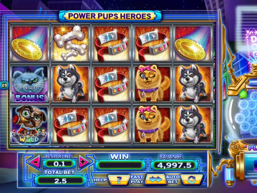 Roztočte casino automat Power Pups Heroes zdarma, online
