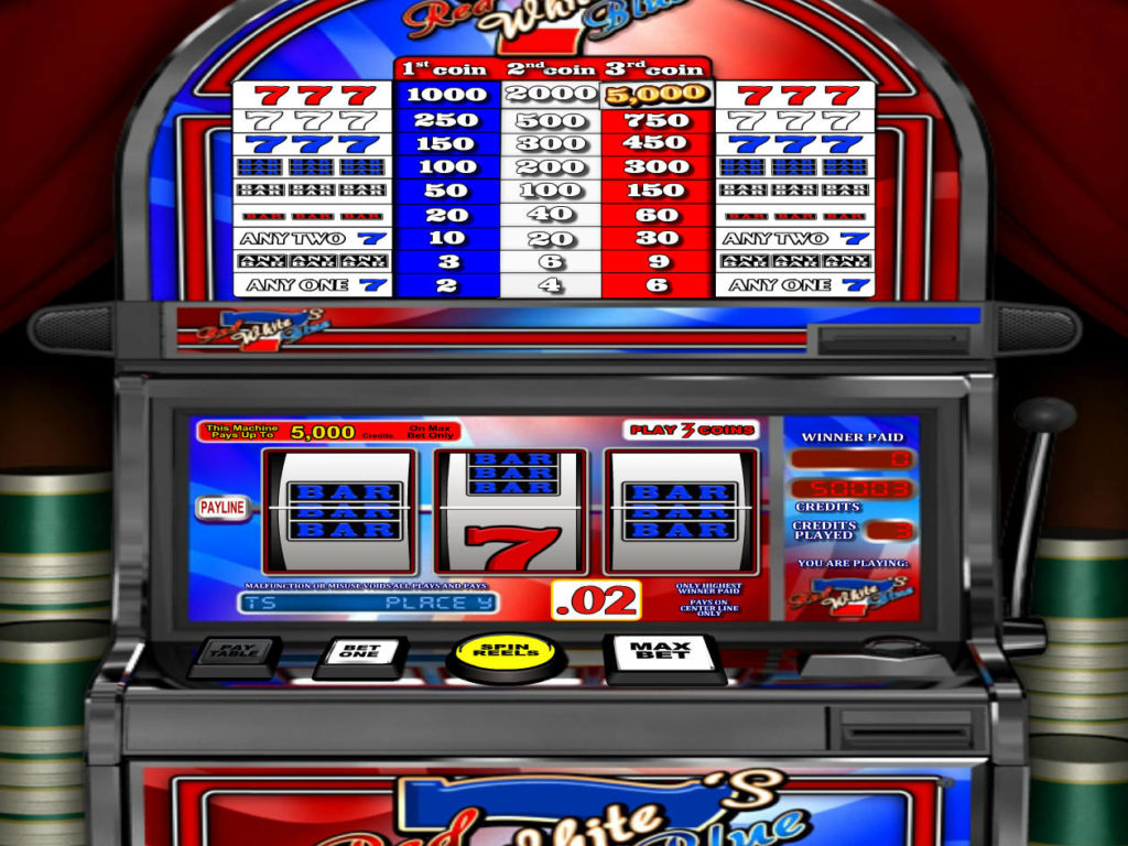 Online casino automat Red White Blue 7s