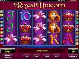 Zahrajte si online automat Royal Unicorn zdarma, bez vkladu