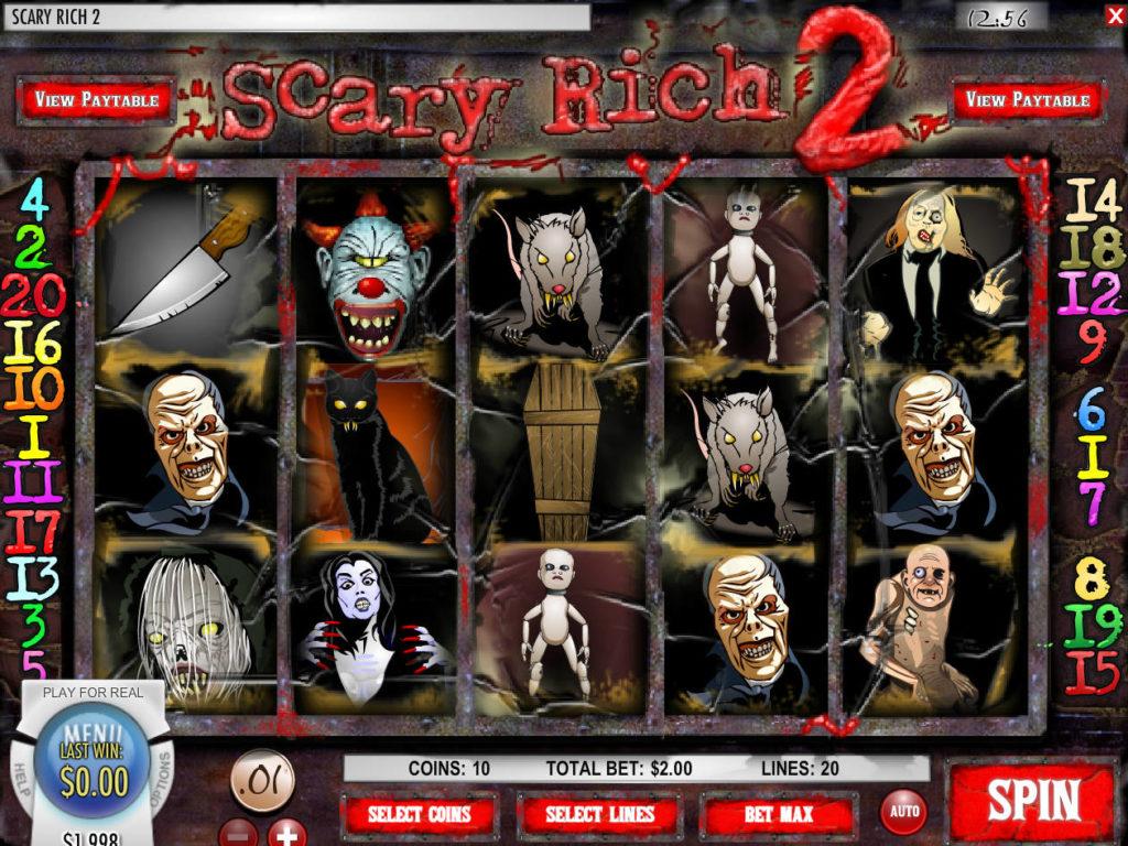 Roztočte online casino automat Scary Rich 2 zdarma