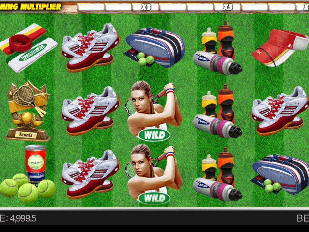 Zábavný online casino automat Tennis Champion zdarma