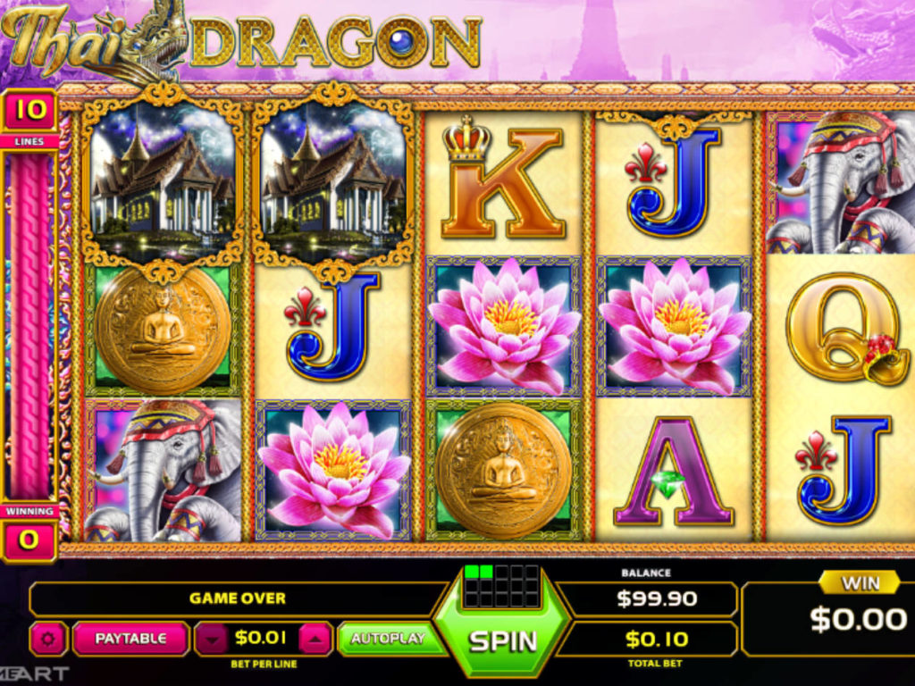 Roztočte online casino automat Thain Dragon zdarma