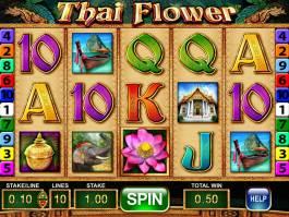 Online casino automat Thai Flower bez vkladu