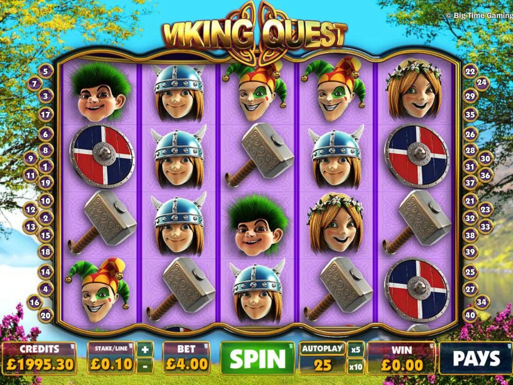 Casino automat Viking Quest zdarma, pro zábavu
