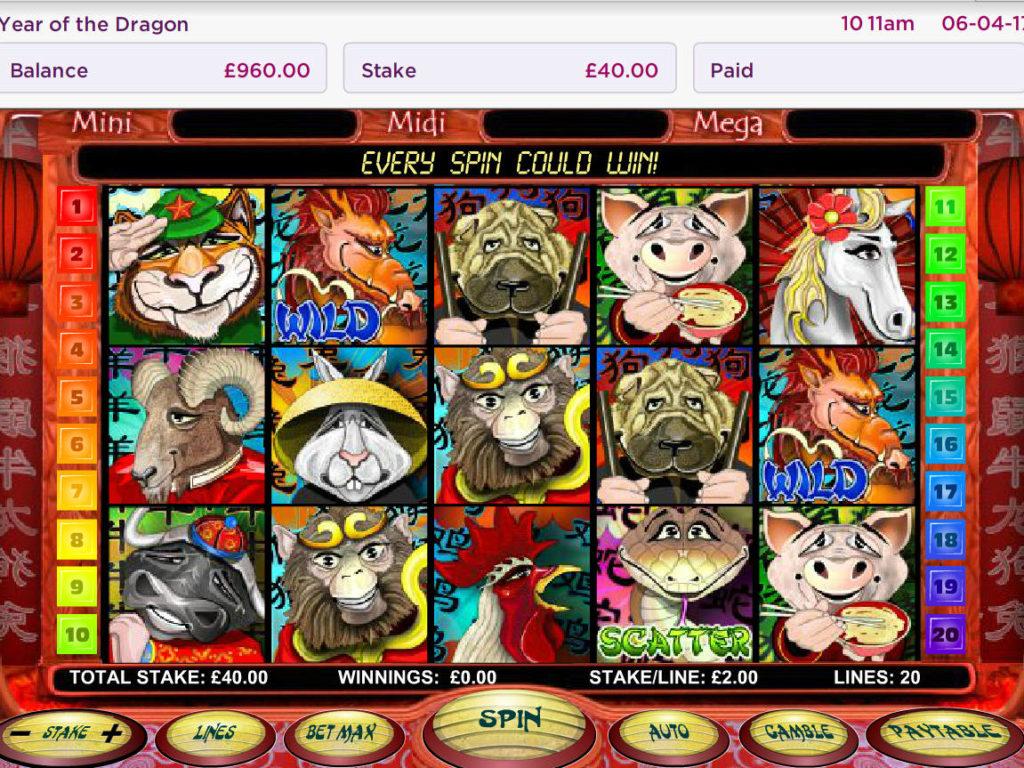 Online casino automat Year of the Dragon zdarma, bez vkladu