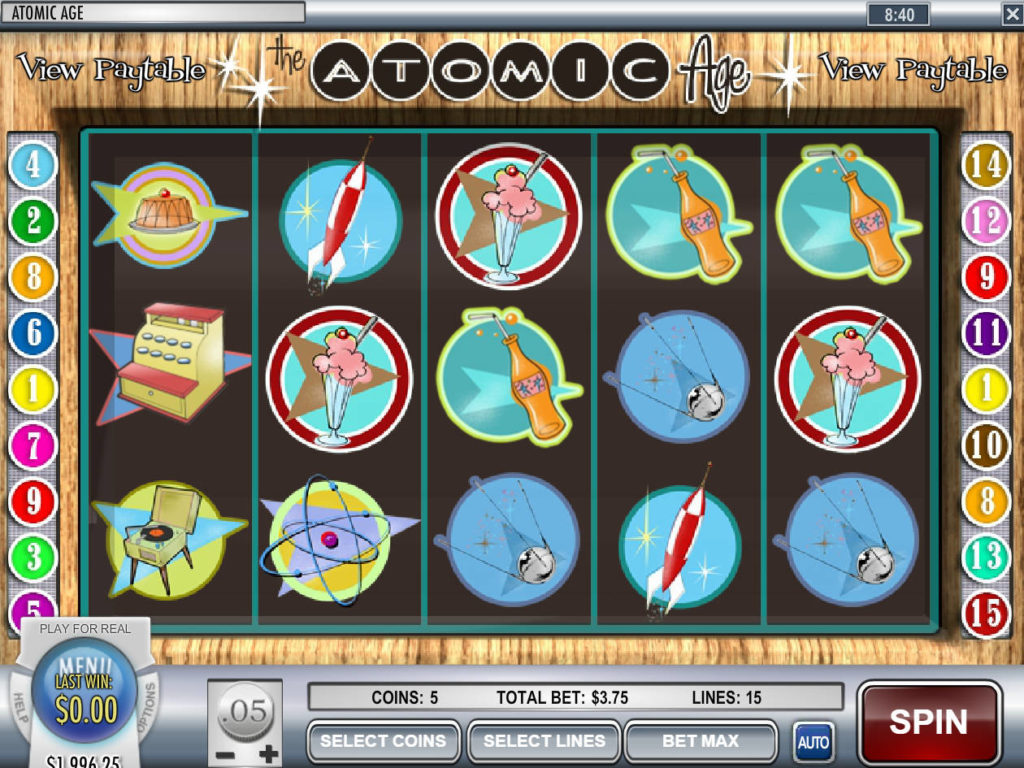 Zahrajte si online casino automat Atomic Age zdarma