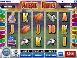 Casino automat Aussie Rules od vývojářské společnosti Rival Gaming