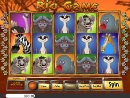 Online herní automat Big Game zdarma