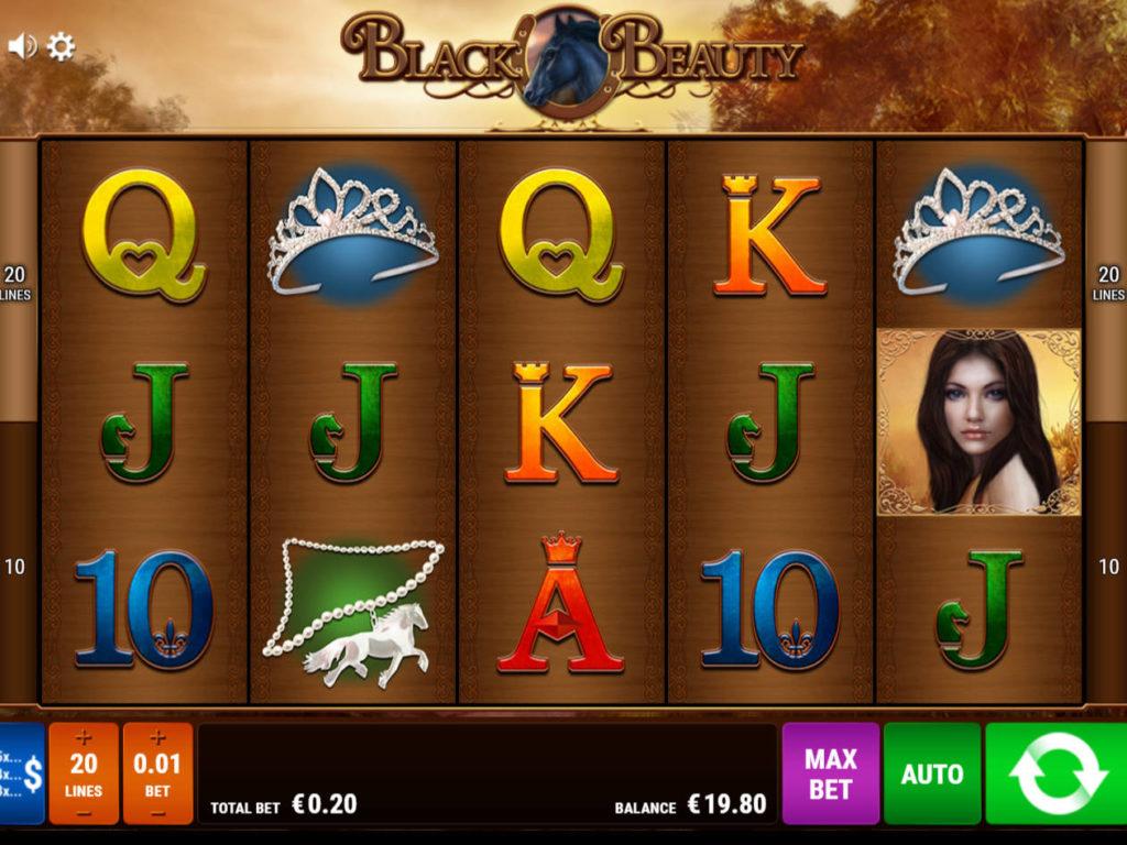 Roztočte válce casino automatu Black Beauty zdarma