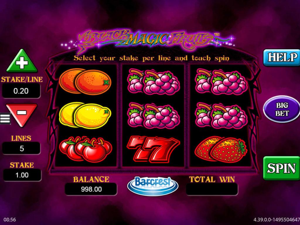 Online casino automat Black Magic Fruits zdarma