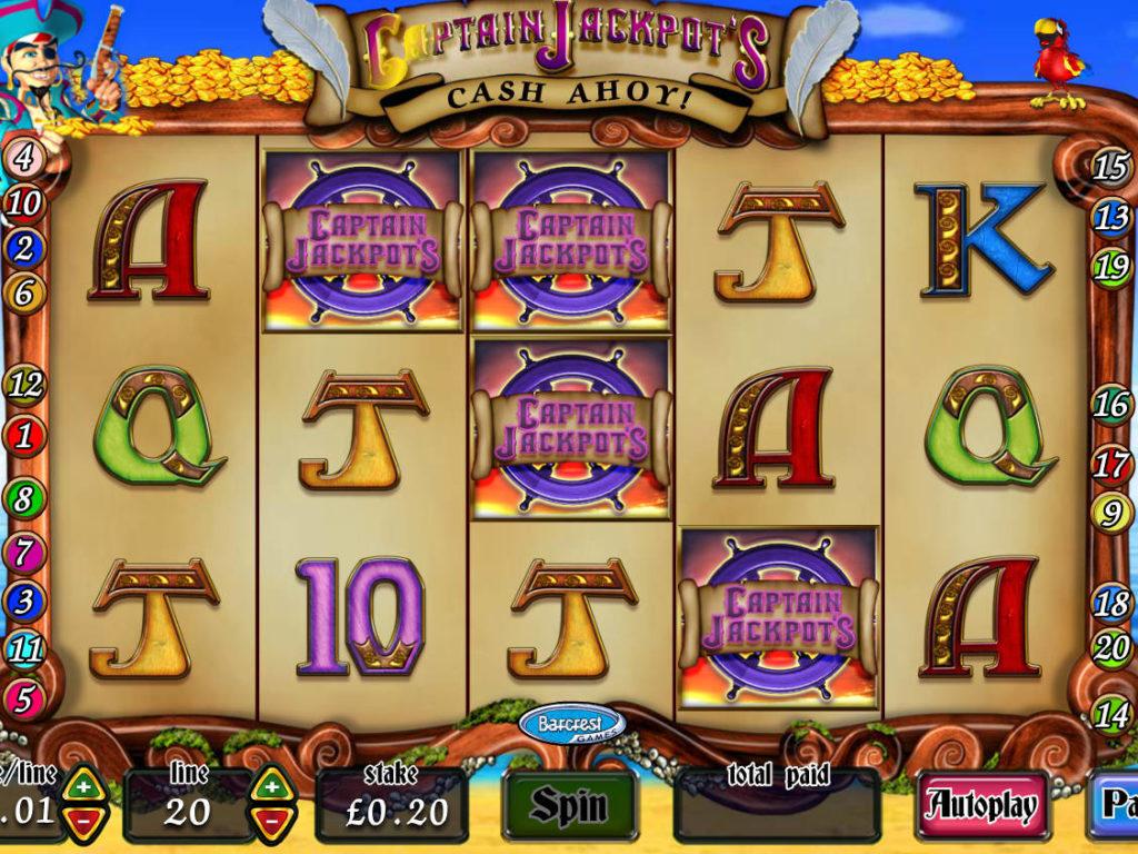 Casino automat Captain Jackpot's Cash Ahoy online
