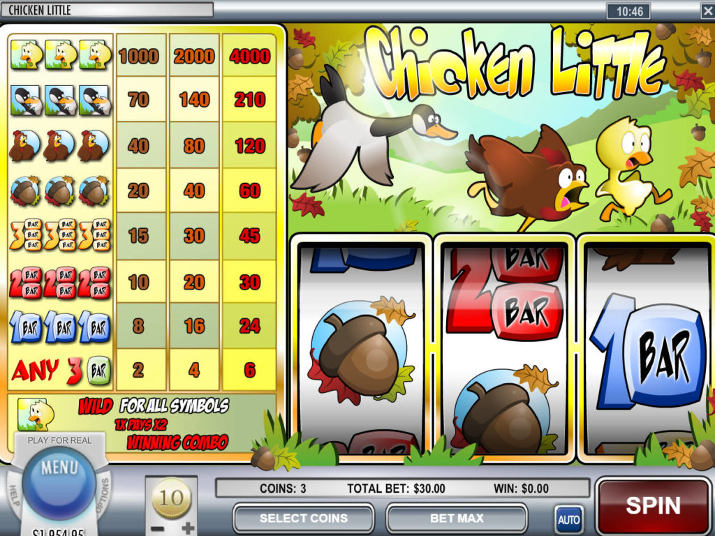 Obrázek z online casino automatu Chicken Little zdarma