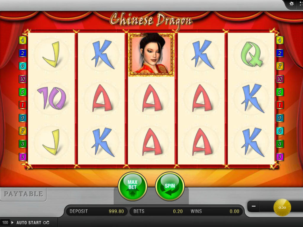 Roztočte online herní automat Chinese Dragon zdarma