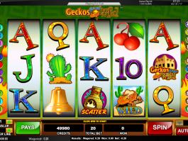 Casino automat Geckos Gone Wild online, bez stahování