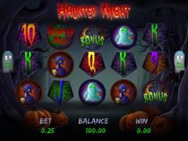 Online herní automat Haunted Night zdarma