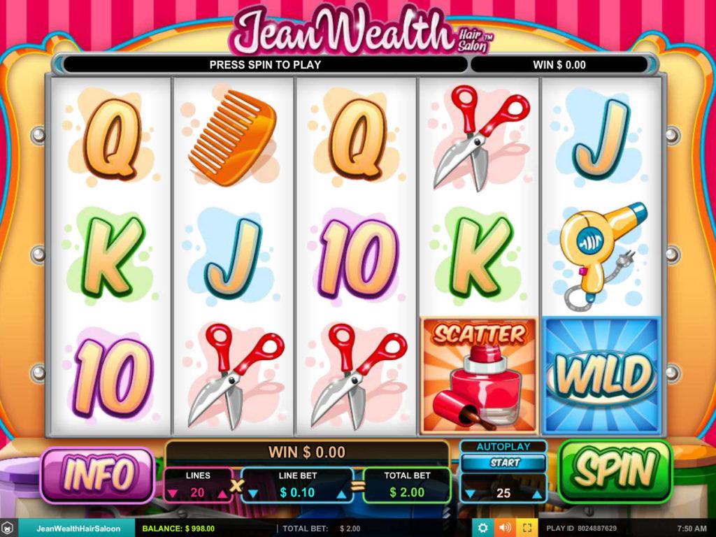 Roztočte válce online casino automatu Jeal Wealth zdarma