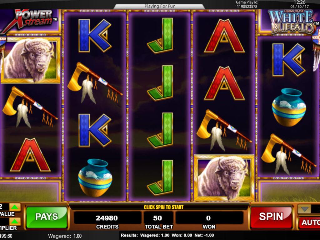 Casino automat Legend of the White Buffalo bez vkladu