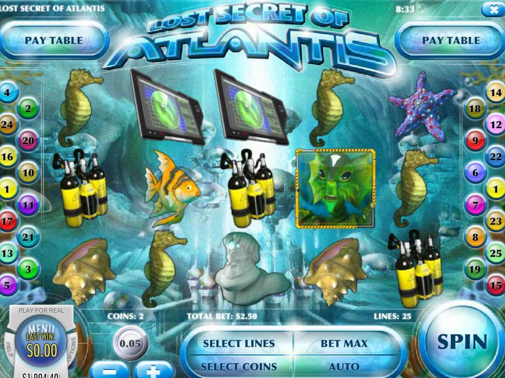 Casino automat Lost Secret of Atlantis bez stahování
