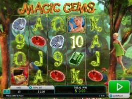 Online herní automat Magic Gems zdarma