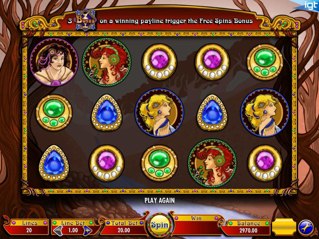 Casino automat Nouveau Riche bez vkladu