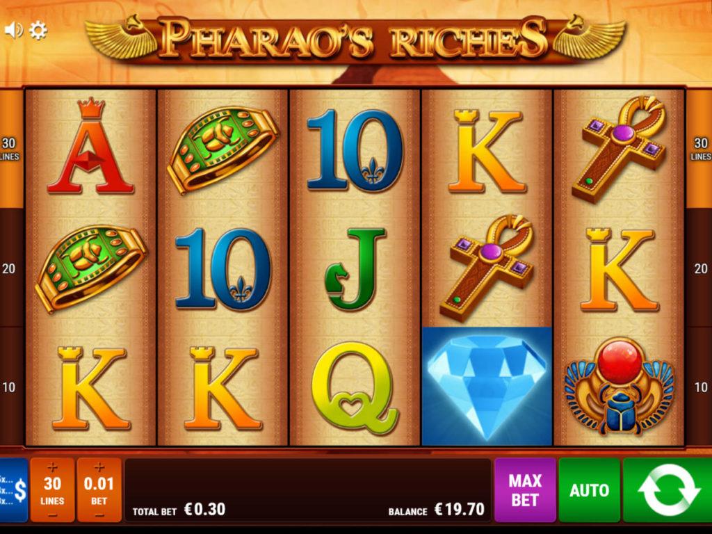 Casino automat Pharao's Riches zdarma