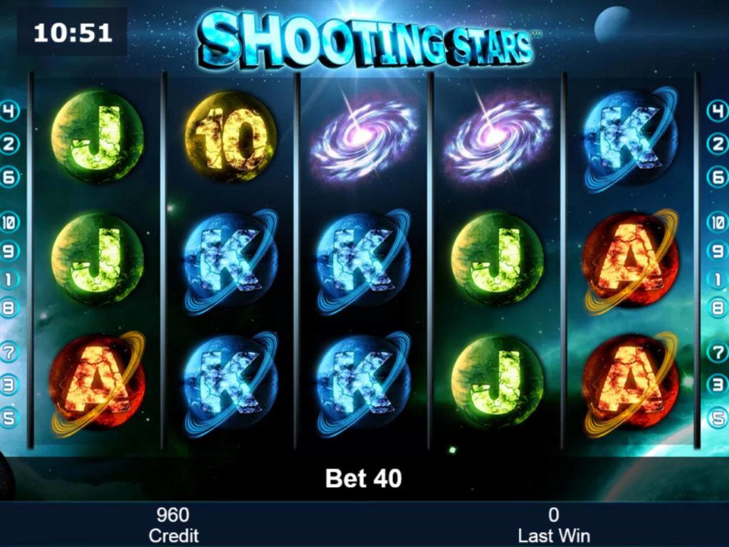 Obrázek z online casino automatu Shooting Stars zdarma