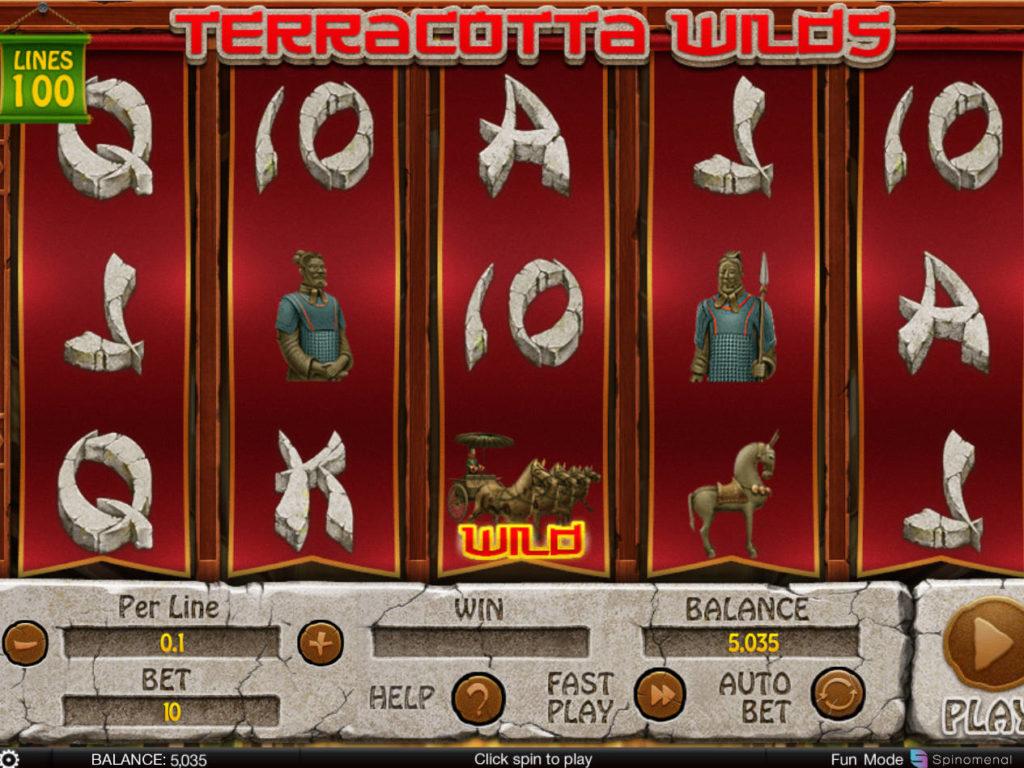 Online casino automat Terracotta Wilds zdarma