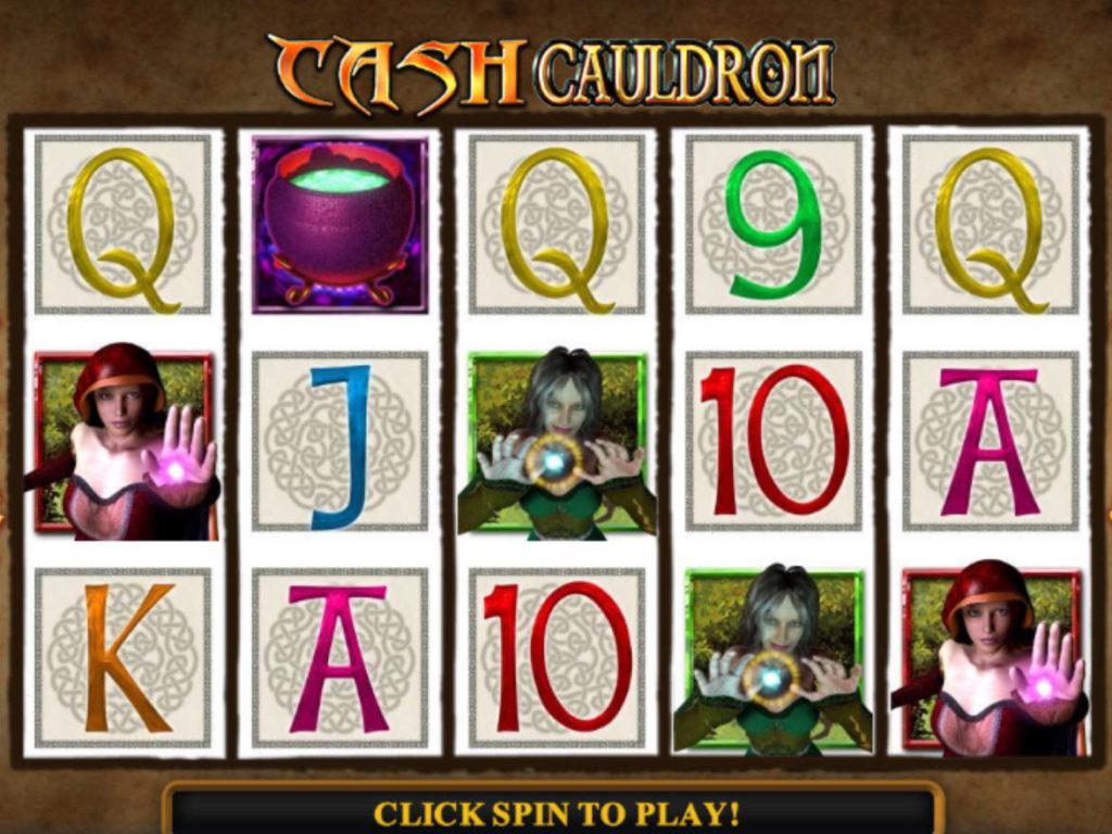 Roztočte online casino automat Cash Cauldron