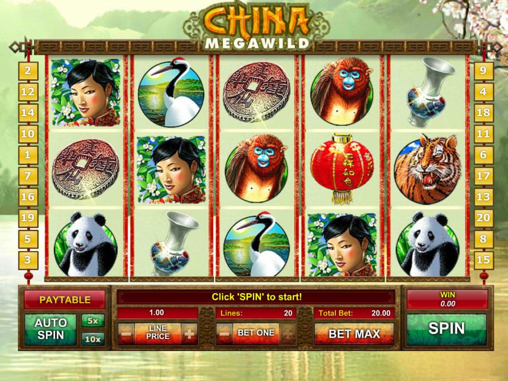 Zahrajte si zábavný casino automat China MegaWild