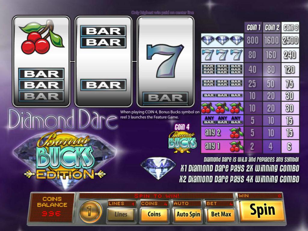 Online casino automat Diamond Dare Bonus Bucks
