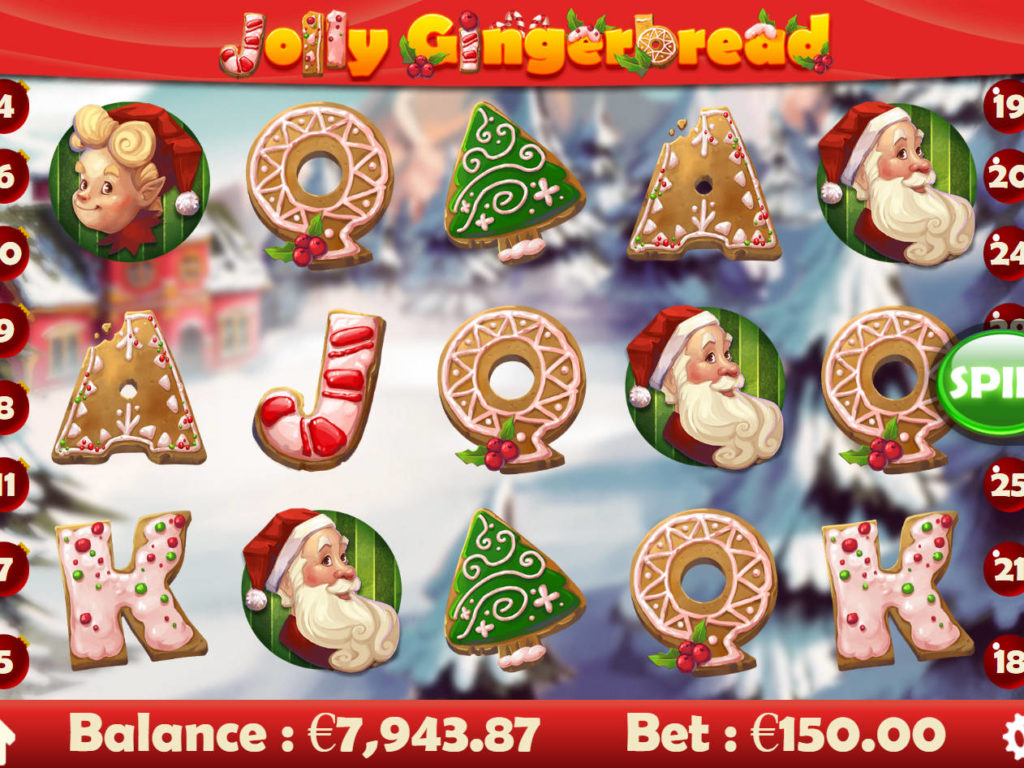 Zahrajte si casino automat Jolly Gingerbread online